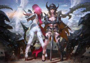 Rating: Safe Score: 35 Tags: armor ass bikini_armor cleavage heels kilart sword tattoo weapon User: Mr_GT
