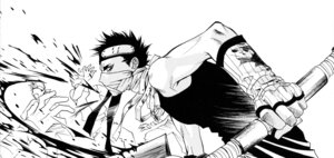 Rating: Safe Score: 3 Tags: male momochi_zabuza monochrome nakajou_hisaya naruto User: Radioactive