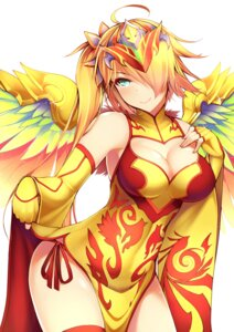 Rating: Questionable Score: 90 Tags: chinadress cleavage dean leilan_(p&d) pantsu puzzle_&_dragons string_panties thighhighs wings User: fairyren