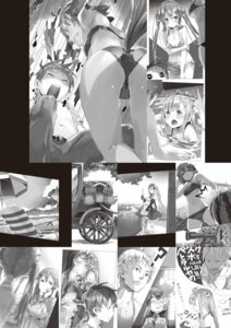 Rating: Questionable Score: 17 Tags: animal_ears ass bikini breast_hold cleavage digital_version maid megane monochrome outbreak_company pointy_ears swimsuits tail uniform wet yuugen User: Twinsenzw