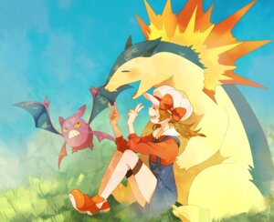 Rating: Safe Score: 14 Tags: crobat happa kotone_(pokemon) pokemon typhlosion User: hobbito