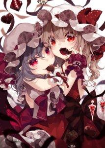 Rating: Safe Score: 16 Tags: flandre_scarlet remilia_scarlet touhou toutenkou valentine wings yuri User: Mr_GT