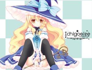Rating: Safe Score: 31 Tags: kirisame_marisa lolita_fashion natsume_eri thighhighs touhou witch User: fairyren