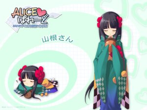 Rating: Safe Score: 8 Tags: alice_parade chibi inemuri_yamane ito_noizi kimono unisonshift wallpaper User: admin2