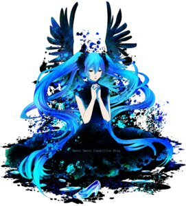 Rating: Safe Score: 7 Tags: athese112 hatsune_miku vocaloid wings User: Radioactive
