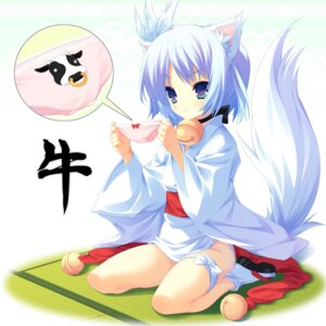 Rating: Safe Score: 44 Tags: animal_ears kitsune nopan pantsu rindou_ruri show_(rinne) tail tenshinranman User: brigfox