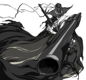 Rating: Safe Score: 3 Tags: afro_samurai gun justice male monochrome User: charunetra