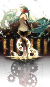 Rating: Safe Score: 33 Tags: hatsune_miku headphones saihate tattoo thighhighs vocaloid User: Mr_GT
