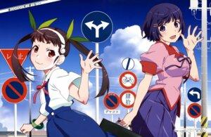 Rating: Safe Score: 49 Tags: bakemonogatari hachikuji_mayoi hanekawa_tsubasa seifuku sugiyama_nobuhiro User: drop