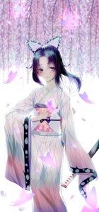 Rating: Safe Score: 35 Tags: japanese_clothes kimetsu_no_yaiba kochou_shinobu samsoon sword User: BattlequeenYume