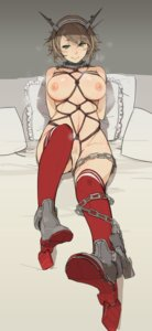 Rating: Explicit Score: 46 Tags: bondage heels kantai_collection mutsu_(kancolle) naked nipples pussy sakura_sora thighhighs User: Mr_GT