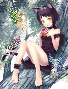 Rating: Safe Score: 64 Tags: animal_ears dress fairy k+ nekomimi tail User: Mistalleks