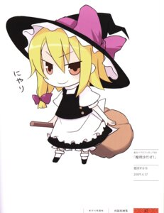 Rating: Safe Score: 10 Tags: chibi irukawa_oruka kirisame_marisa touhou witch User: Radioactive