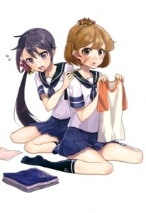Rating: Questionable Score: 30 Tags: akebono_(kancolle) bandaid kantai_collection oboro_(kancolle) seifuku User: drop