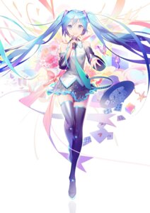 Rating: Safe Score: 44 Tags: hatsune_miku headphones thighhighs vocaloid yyb User: nphuongsun93