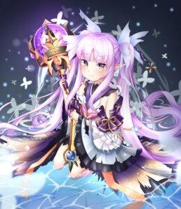 Rating: Questionable Score: 27 Tags: hikawa_kyouka lolita_fashion mannaku pointy_ears princess_connect princess_connect!_re:dive torn_clothes wa_lolita weapon wet User: yanis