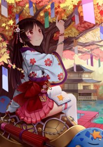 Rating: Safe Score: 35 Tags: ling_si thighhighs umbrella yukata User: charunetra