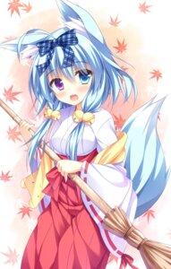 Rating: Safe Score: 59 Tags: animal_ears heterochromia miko minatsuki_kou nanakuni_kotone natsuiro_kokoro_log tail User: Mr_GT