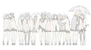 Rating: Safe Score: 15 Tags: fuyuri_(tibirobo) pantyhose seifuku skirt_lift sweater umbrella yuri User: NotRadioactiveHonest