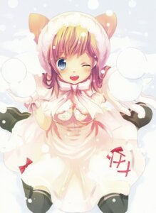 Rating: Safe Score: 15 Tags: dress hikarino thighhighs User: cheese