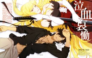 Rating: Safe Score: 32 Tags: araragi_koyomi cleavage dress kissshot_acerolaorion_heartunderblade kizumonogatari ookaji_hiroyuki sword User: drop