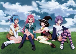 Rating: Safe Score: 32 Tags: akashiya_moka kurono_kurumu rosario_+_vampire seifuku sendo_yukari shirayuki_mizore stockings thighhighs witch User: Radioactive
