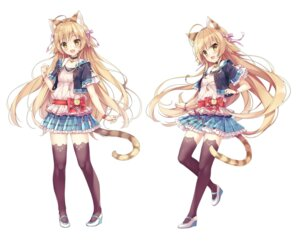 Rating: Safe Score: 68 Tags: animal_ears heels makulove nekomimi pikomint tail thighhighs User: zyll