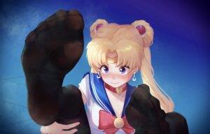 Rating: Safe Score: 25 Tags: cleavage feet ice_(ice_aptx) sailor_moon seifuku tsukino_usagi User: Dreista