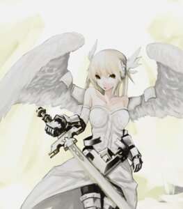 Rating: Safe Score: 35 Tags: armor dove lord_of_vermilion sword wings User: Radioactive