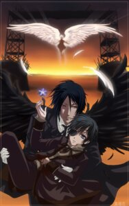 Rating: Safe Score: 10 Tags: angelskully ciel_phantomhive eyepatch kuroshitsuji male sebastian_michaelis wings User: charunetra