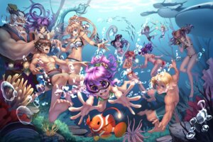 Rating: Safe Score: 30 Tags: ass bikini cleavage horns mermaid monster_girl pointy_ears swimsuits tail zpf User: Mr_GT