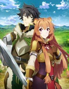Rating: Safe Score: 43 Tags: animal_ears armor breast_hold dress iwatani_naofumi raphtalia sword tagme tate_no_yuusha_no_nariagari User: drop