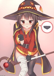 Rating: Safe Score: 93 Tags: bandages ezoshika kono_subarashii_sekai_ni_shukufuku_wo! megumin thighhighs weapon witch User: Mr_GT