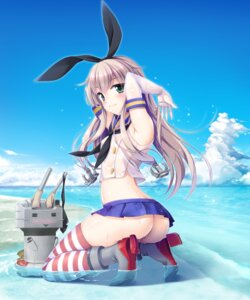 Rating: Questionable Score: 67 Tags: ass heels kantai_collection nopan pantsu rensouhou-chan see_through shimakaze_(kancolle) sorairo_tsukiiro thighhighs wet wet_clothes User: Mr_GT