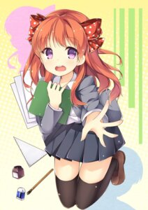 Rating: Safe Score: 71 Tags: gekkan_shoujo_nozaki-kun luky sakura_chiyo seifuku thighhighs User: 椎名深夏