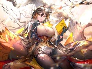 Rating: Safe Score: 24 Tags: asian_clothes border0715 cleavage garter genderswap genshin_impact pantyhose skirt_lift zhongli_(genshin_impact) User: Mr_GT