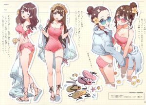 Rating: Safe Score: 55 Tags: ancotaku ass bikini cleavage megane open_shirt sentiment_color swimsuits wet User: kiyoe