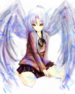 Rating: Safe Score: 15 Tags: angel_beats! kami_amane_kurohime tenshi wings User: charunetra