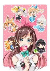 Rating: Safe Score: 11 Tags: a.i._channel animal_ears chibi cleavage crossover dennou_shoujo_youtuber_shiro japanese_clothes kaguya_luna kaguya_luna_(character) kizuna_ai mirai_akari mirai_akari_project nijisanji seifuku shiro_(dennou_shoujo_youtuber_shiro) tail thighhighs tokino_sora tokino_sora_channel tsukino_mito uminekoritorubasuta-zu User: Spidey