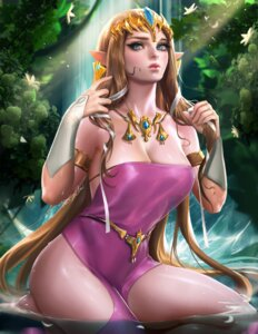 Rating: Safe Score: 70 Tags: cleavage dress no_bra pointy_ears princess_zelda sakimichan the_legend_of_zelda wet User: charunetra