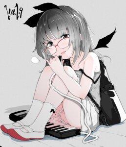 Rating: Explicit Score: 30 Tags: animal_ears dress kinomoto_(nazonoinu) loli megane pantsu panty_pull pussy sketch skirt_lift uncensored wings User: Nico-NicoO.M.