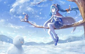 Rating: Safe Score: 50 Tags: hatsune_miku thighhighs vocaloid yue_yue yuki_miku User: Mr_GT