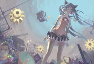 Rating: Safe Score: 40 Tags: hatsune_miku madyy odds_&_ends_(vocaloid) thighhighs vocaloid User: Radioactive