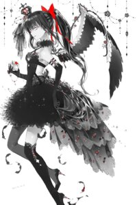 Rating: Safe Score: 32 Tags: akemi_homura cleavage dress heels puella_magi_madoka_magica tagme thighhighs wings User: Spidey