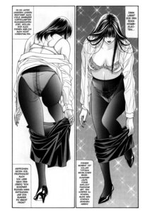 Rating: Questionable Score: 3 Tags: ass bra cleavage dress_shirt g-taste monochrome open_shirt pantsu pantyhose undressing yagami_hiroki User: MDGeist