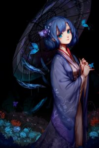 Rating: Safe Score: 51 Tags: cirno kimono kiyomasa_ren touhou umbrella wings User: Mr_GT