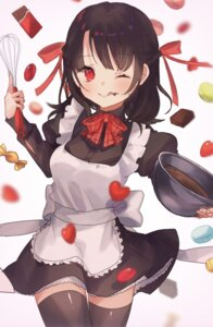 Rating: Safe Score: 15 Tags: cream onene_(ban) skirt_lift thighhighs valentine User: Arsy