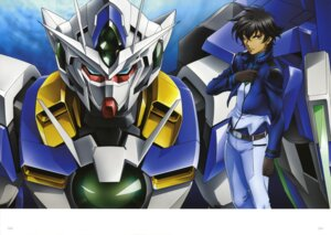 Rating: Safe Score: 9 Tags: 00_qan[t] chiba_michinori gundam gundam_00 gundam_00:_a_wakening_of_the_trailblazer male mecha setsuna_f_seiei User: Zarbaj