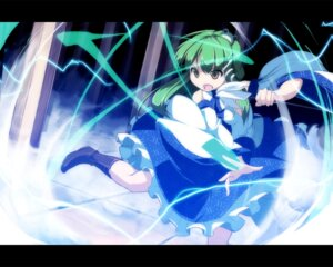 Rating: Safe Score: 8 Tags: asakura_masatoki kochiya_sanae touhou wallpaper User: Ayu*nyan