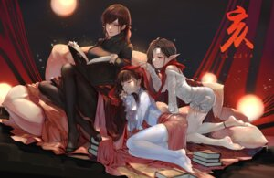 Rating: Safe Score: 7 Tags: limingzhijian pantyhose pointy_ears sweater tagme User: BattlequeenYume